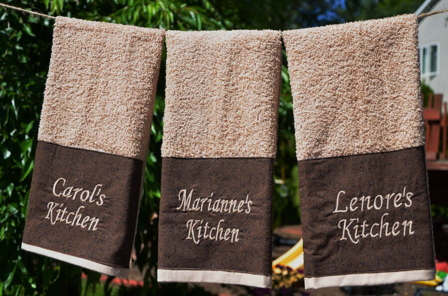Personalized kitchen towel housewarming gift bridal shower return gift ebay - Best return gifts for housewarming ...
