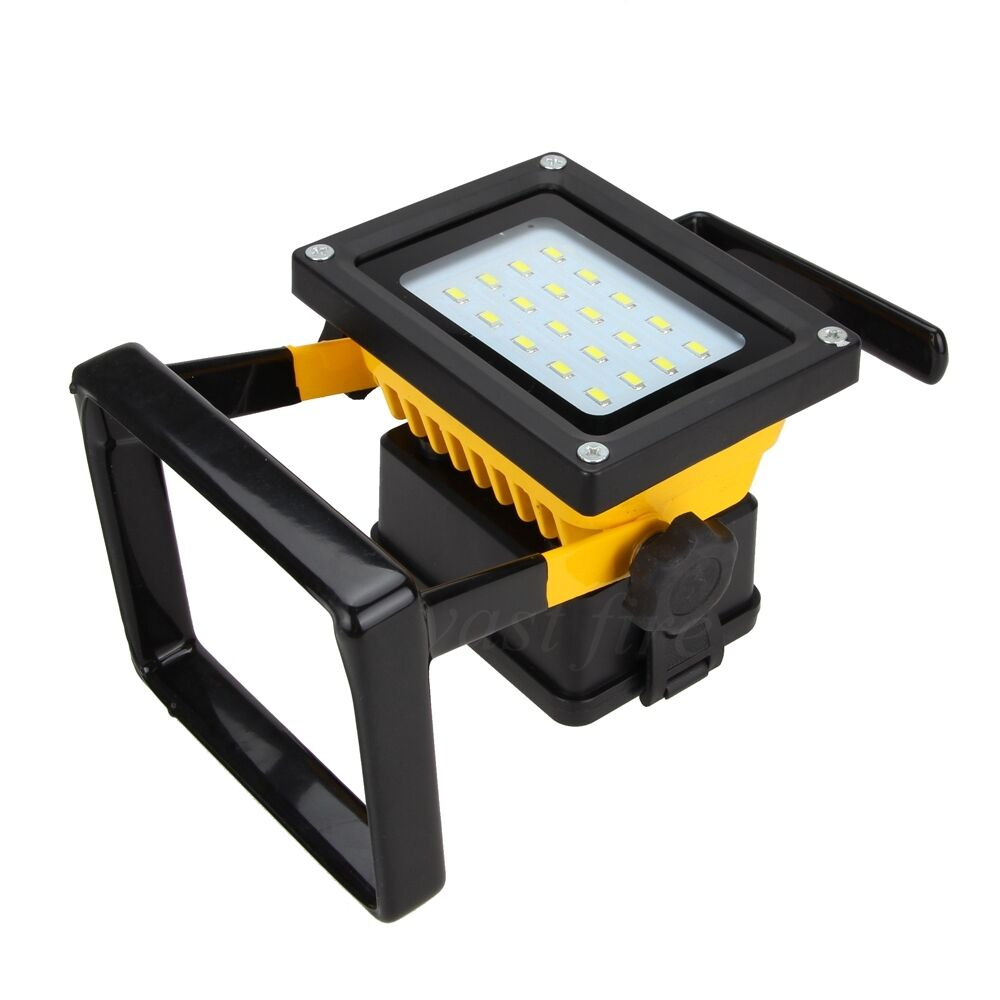 30w rechargeable led flood floodlight work light portable. Black Bedroom Furniture Sets. Home Design Ideas