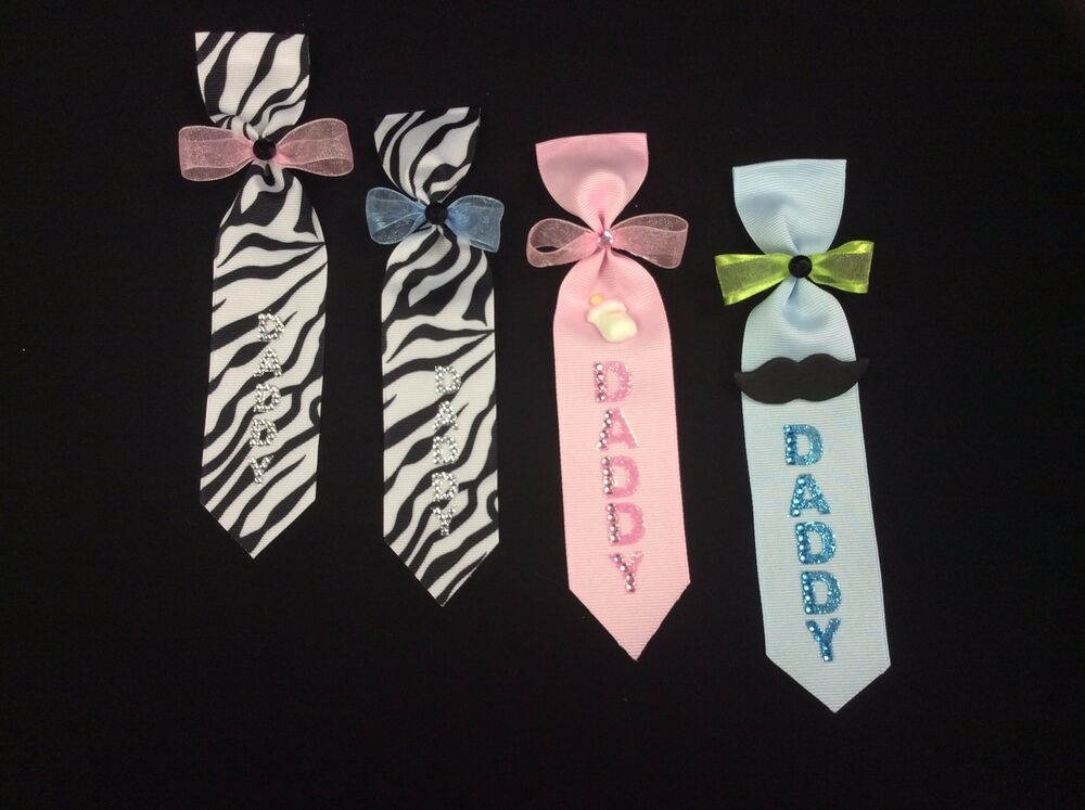 Daddy To Be Ties Baby Shower Pin Corsage Baby Girl Boy