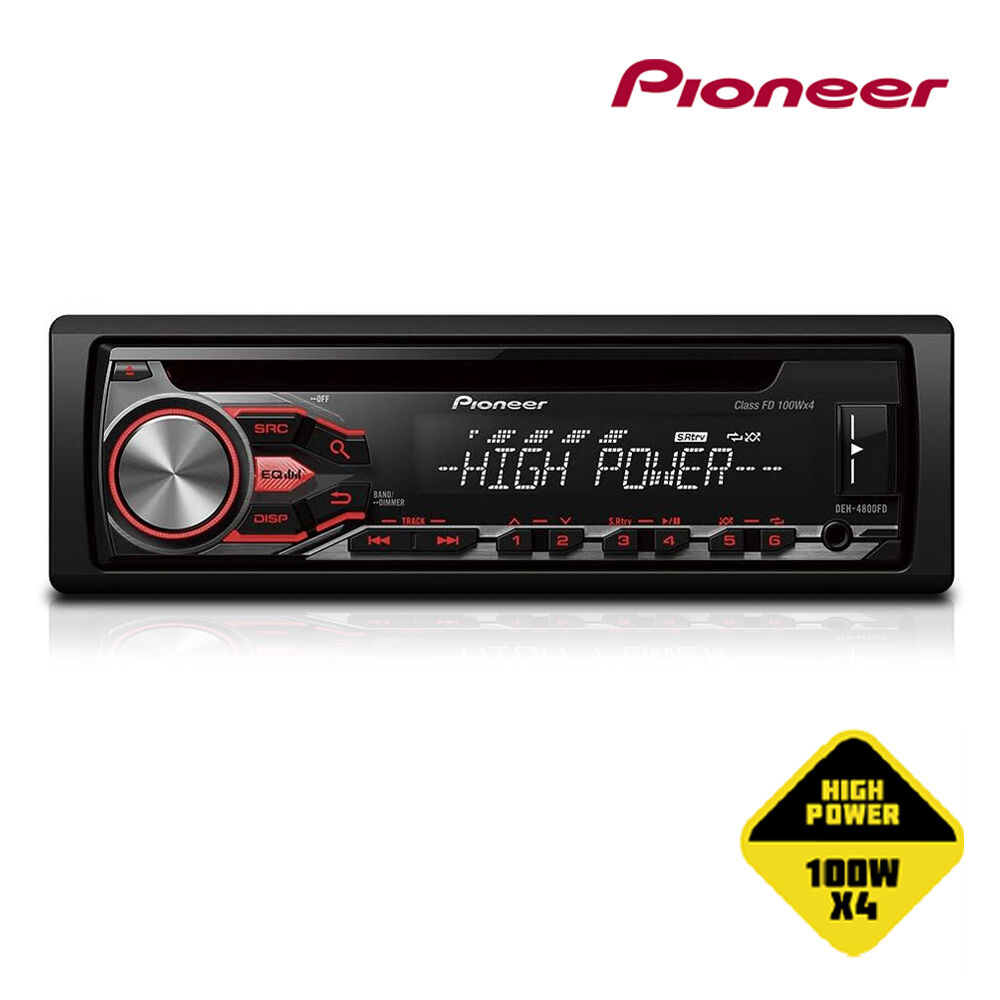 iphone car radio pioneer deh 4800fd 100w x 4 high power cd mp3 usb android 11701