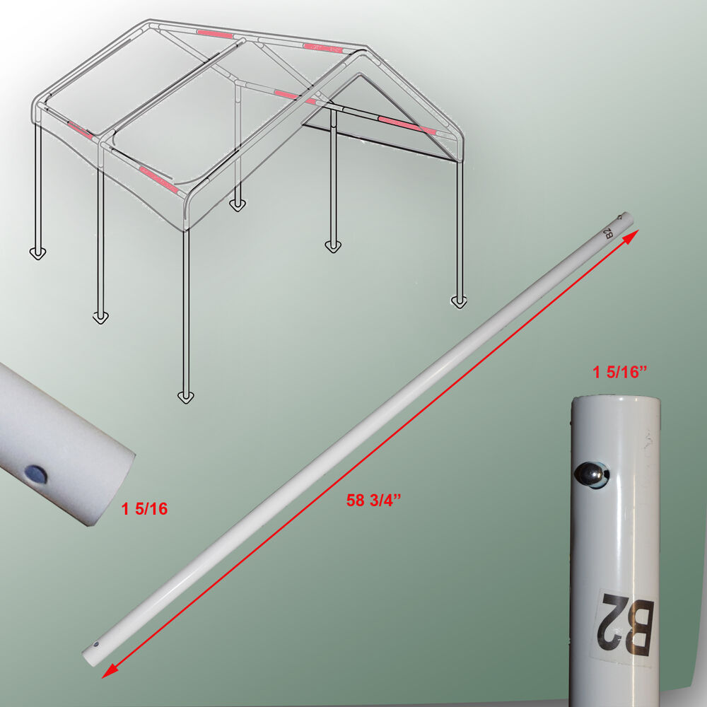 Garage Canopy Attachments : Cross brace pole b for caravan canopy domain