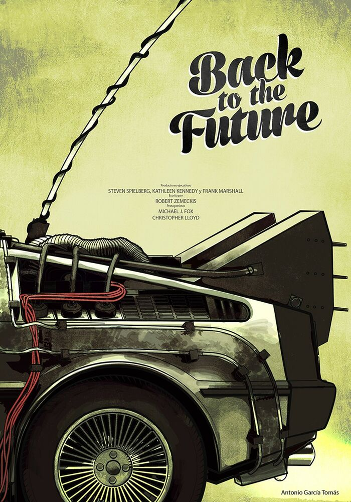 back to the future 1 2 3 movie fabric art cloth poster 36inch x 24inch decor 21 ebay. Black Bedroom Furniture Sets. Home Design Ideas