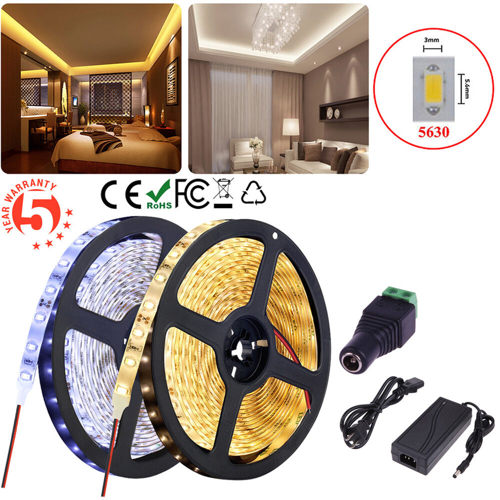 5m 10m 15m 5630 smd led strip light ruban etanche eclairage f te lampe ampoule ebay. Black Bedroom Furniture Sets. Home Design Ideas