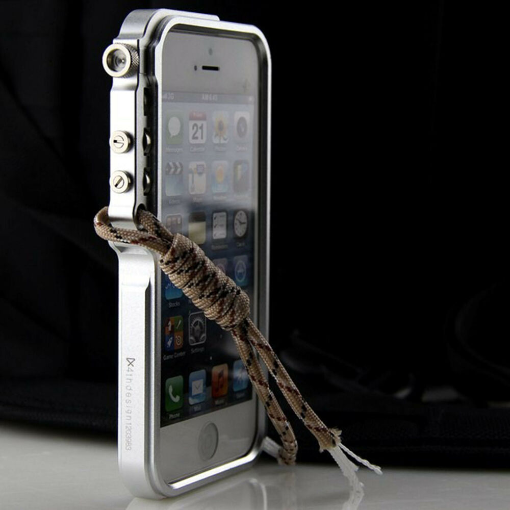 premium aluminum metal trigger bumper frame case strap for iphone 4s 5s 6s plus ebay. Black Bedroom Furniture Sets. Home Design Ideas