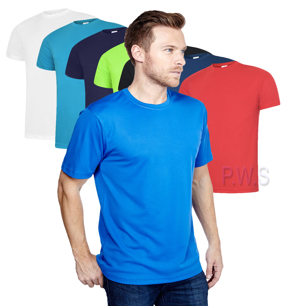 5 X Uneek Mens Ultra Cool T Shirt 140gsm 100 Polyester