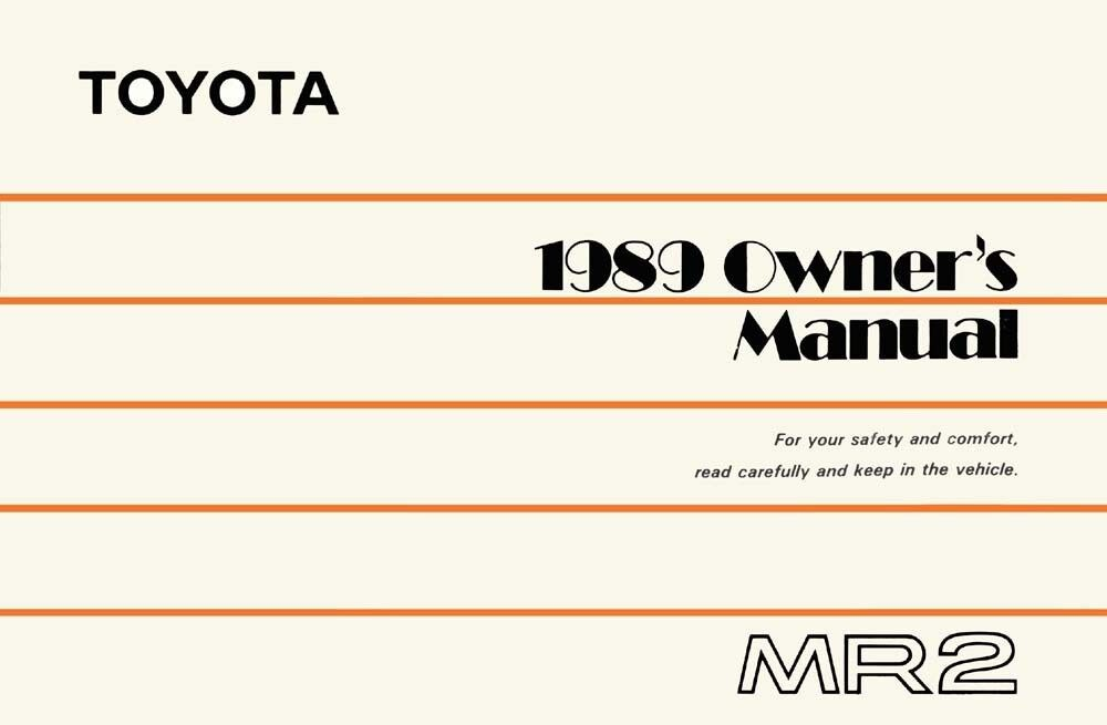 1989 toyota mr2 owners manual user guide reference operator book ebay rh ebay com 1991 toyota mr2 service repair manual download Toyota MR2 Turbo