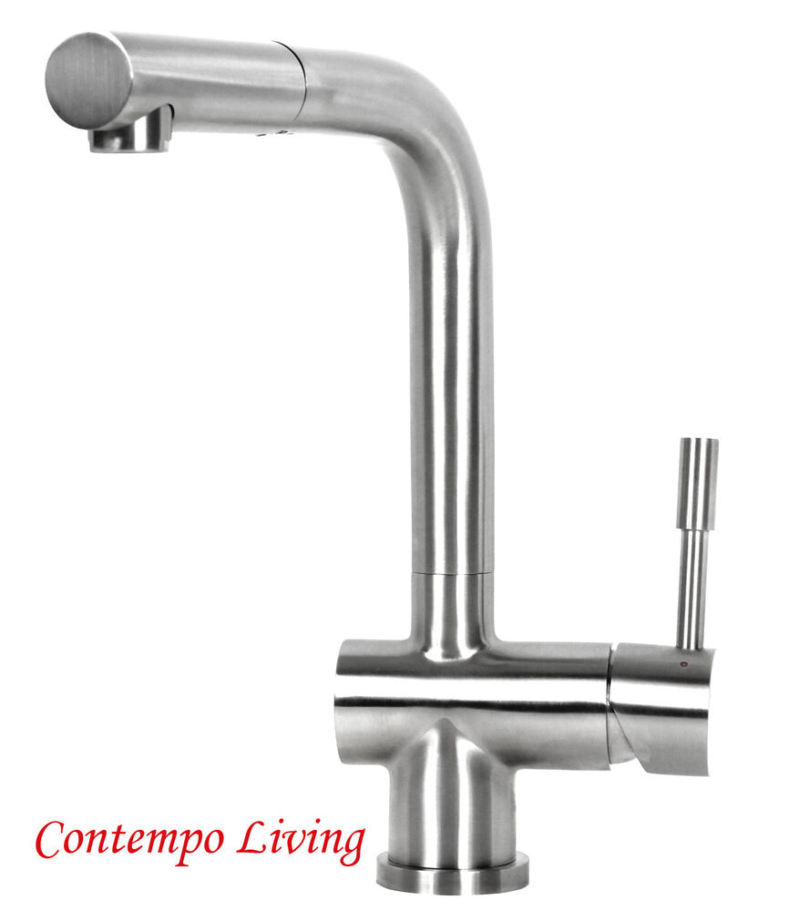 Lead Free Solid 304 Stainless Steel European Style Pull Out Kitchen Faucet Ebay