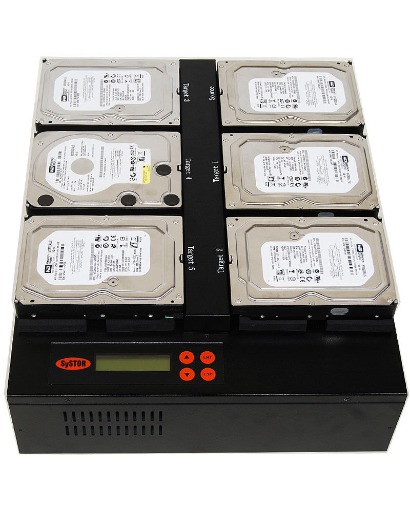 1-5 SATA Flatbed Solid State Hard Drive Disk 150MB/sec Copier For WD Intel SSD | eBay