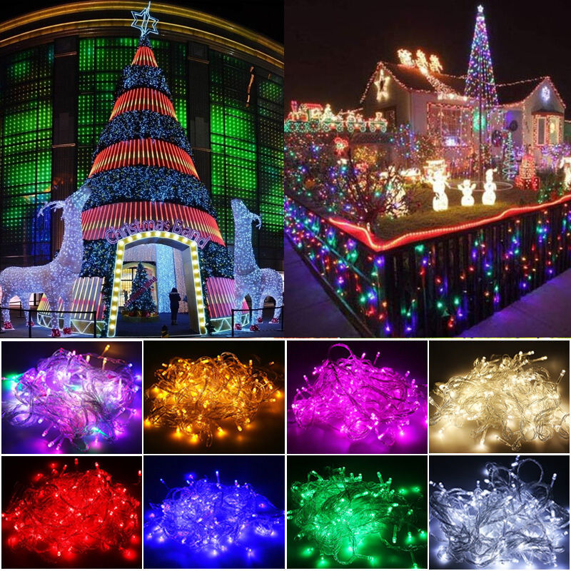 ... Flash Steady Christmas Home Garden String Fairy Lights Decor  eBay