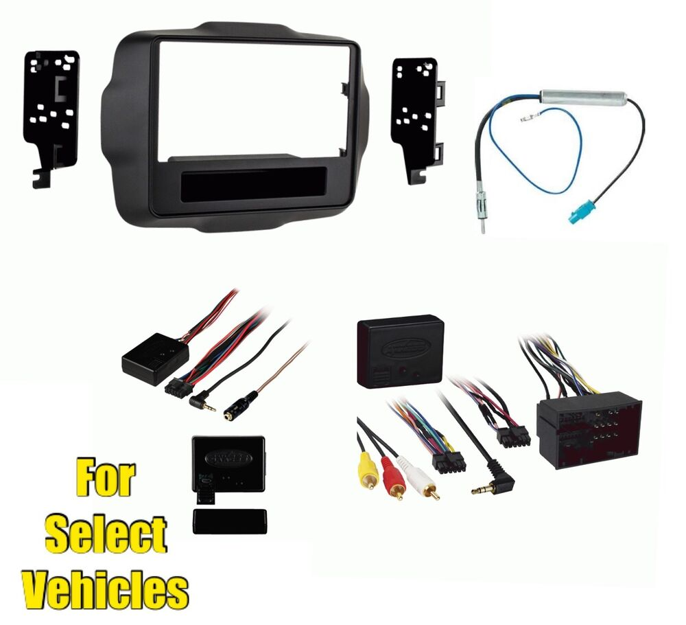 double din car stereo install kit combo for 2015 jeep. Black Bedroom Furniture Sets. Home Design Ideas