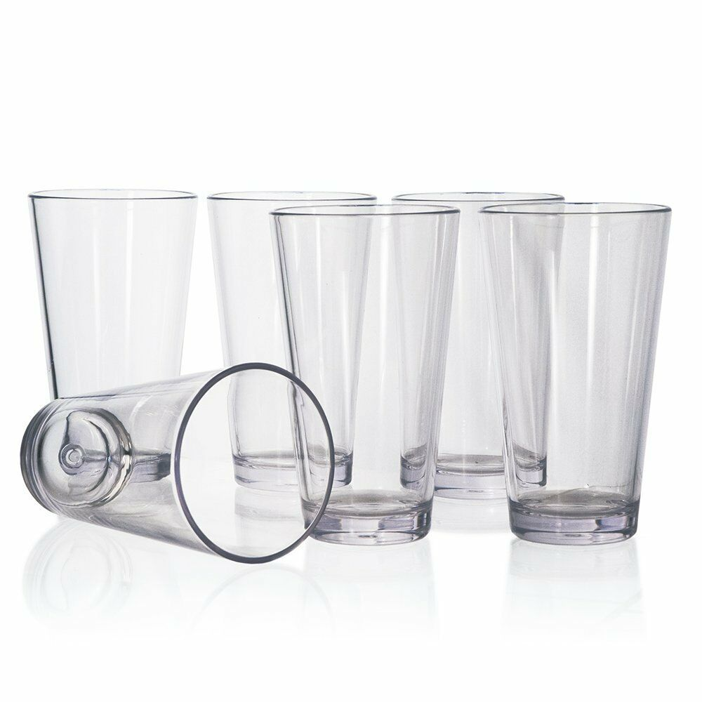20oz 6pc plastic tumbler set drinking glasses water cups for Plastic kitchen set
