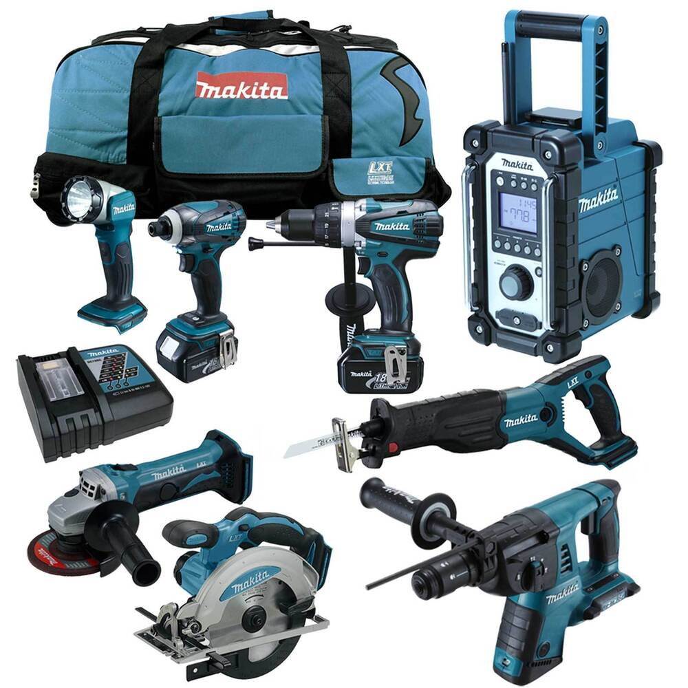makita 12tlg 18v profi akku set dmr102 dhr264rmj 36v kombihammer z zj dlx2082m ebay. Black Bedroom Furniture Sets. Home Design Ideas