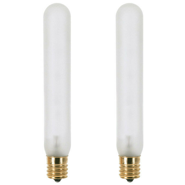 Newhouse Lighting 40w Equivalent Incandescent B10: Satco S3715 15W Frost Slimline Picture E12