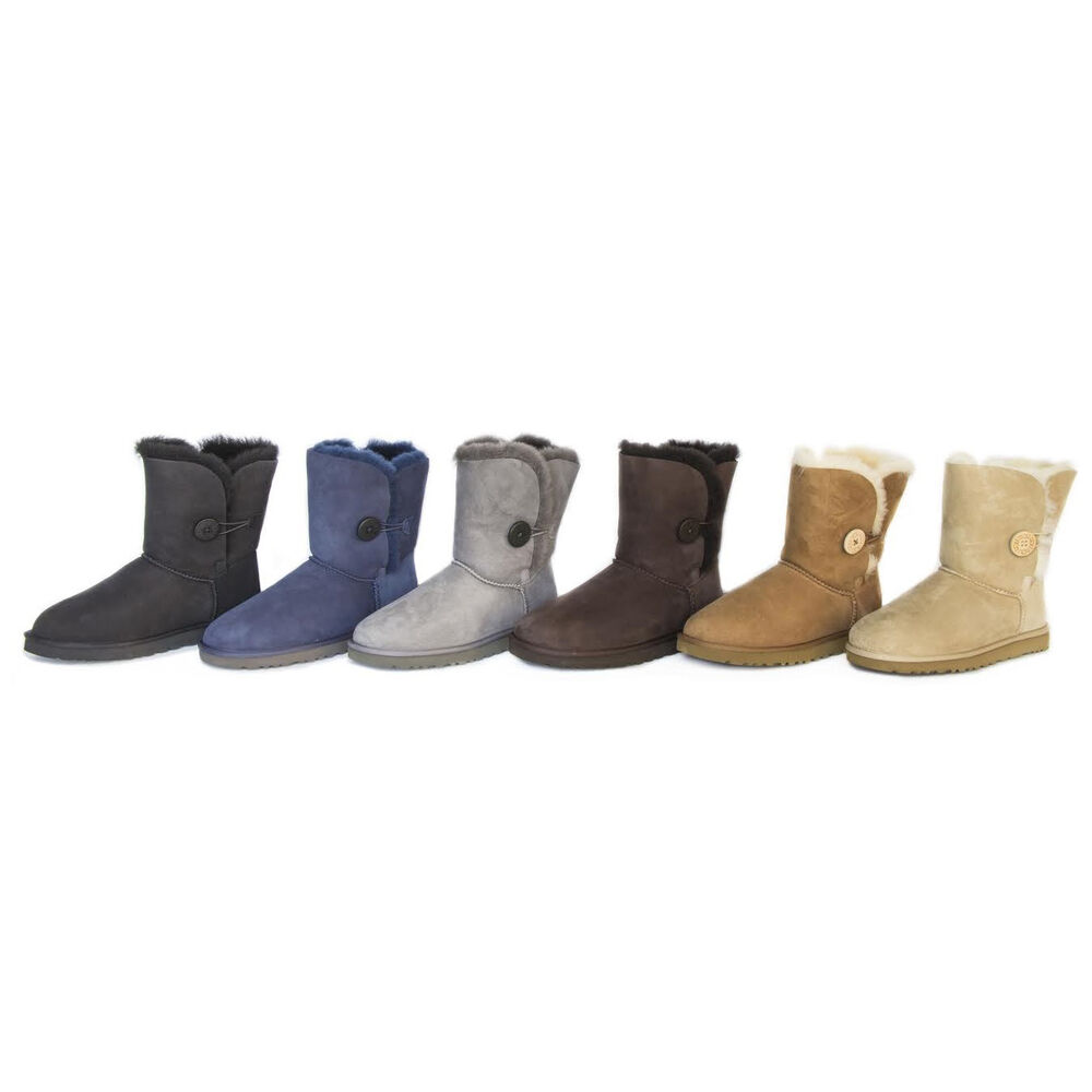 $99.99 Ugg Australia Bailey Button Women Suede Winter Boot