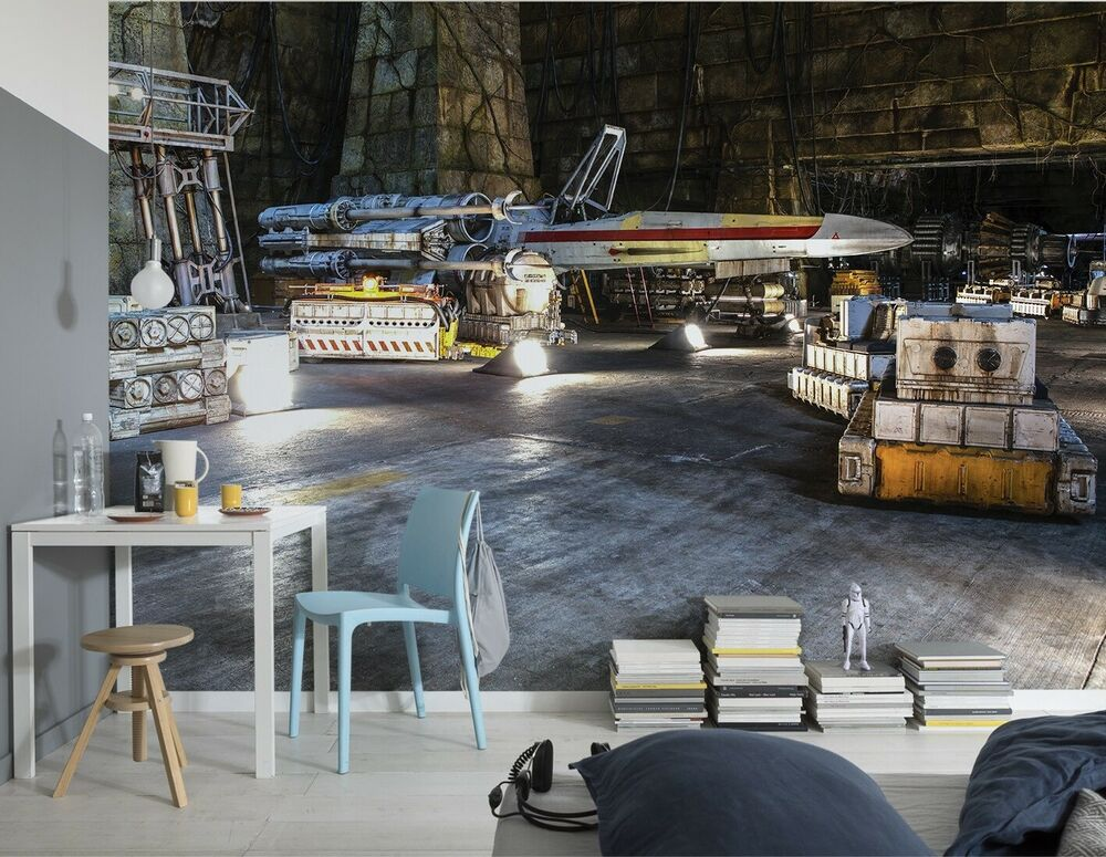 Giant wallpaper 368x254cm star wars for kids boys for Boys bedroom mural