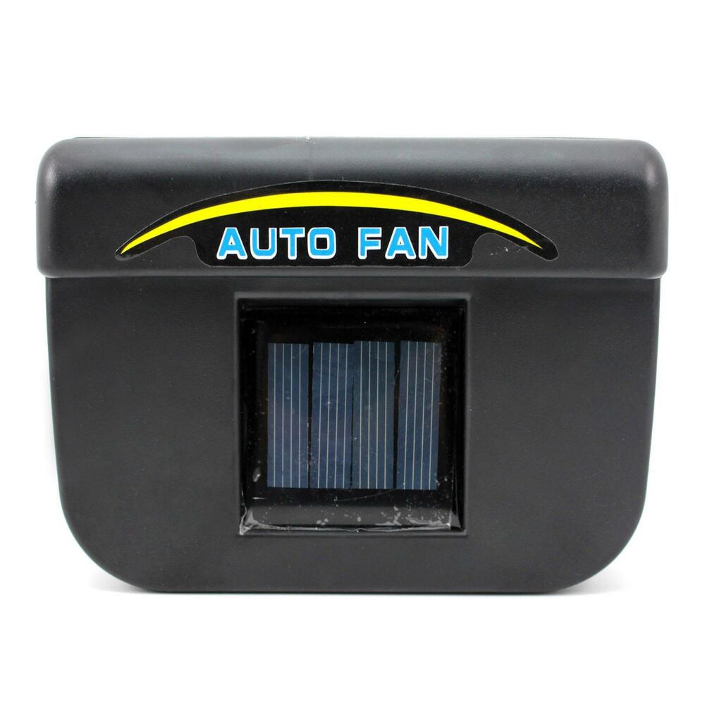 functional auto car window cooler solar powered car air vent cooling accessory ebay. Black Bedroom Furniture Sets. Home Design Ideas