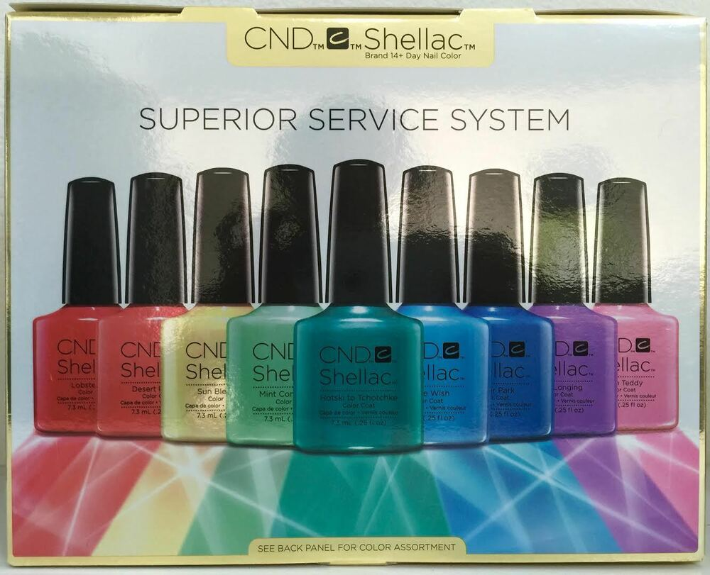 cnd shellac superior service system gel power polish kit everything you need nib ebay. Black Bedroom Furniture Sets. Home Design Ideas