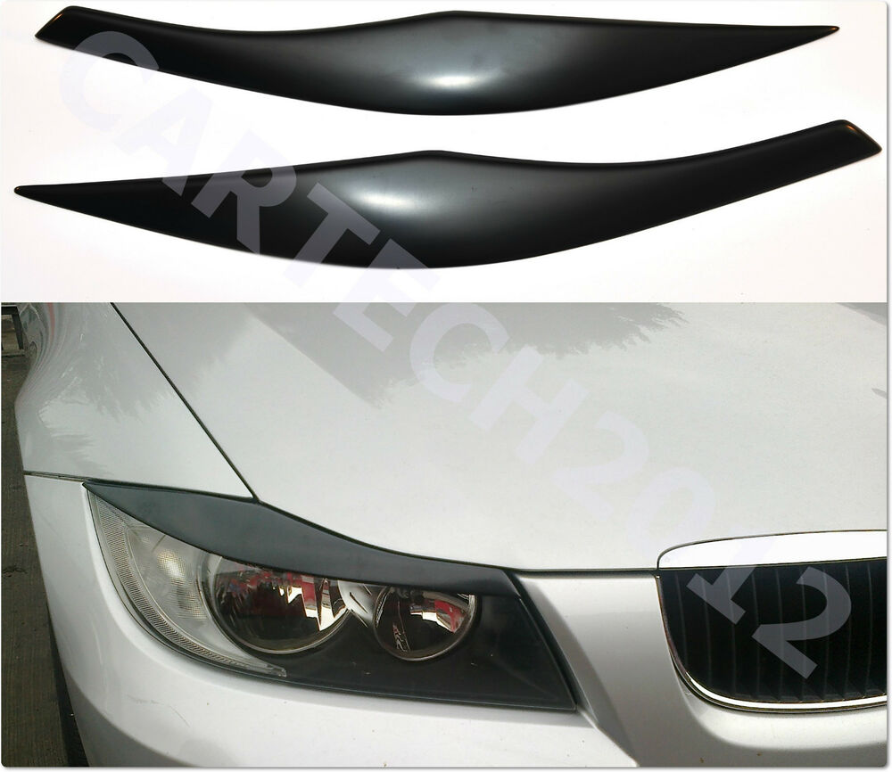 bmw e90 e91 headlight eyebrows eyelids cover abs plastic. Black Bedroom Furniture Sets. Home Design Ideas