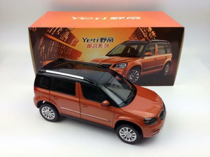 1 18 2015 new skoda yeti duhui suv model car orange color. Black Bedroom Furniture Sets. Home Design Ideas