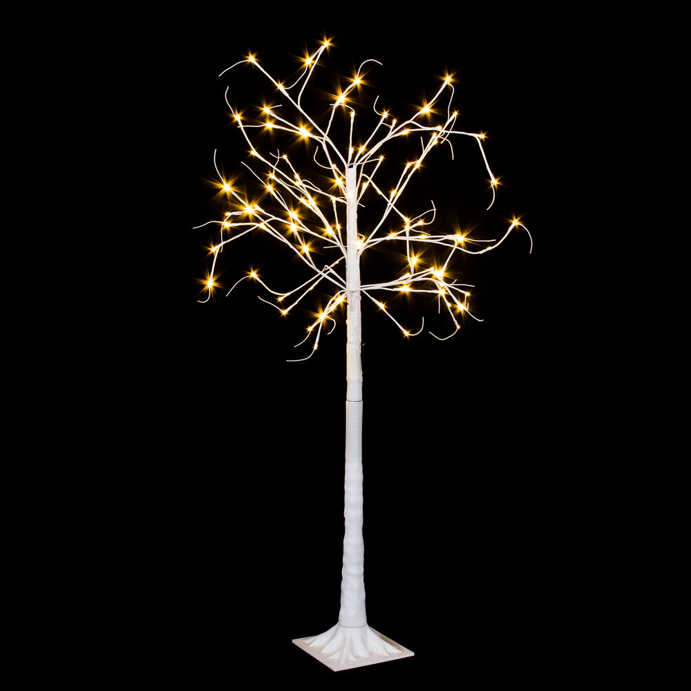 160 cm weisser led baum biegsam dekoration lichterbaum deko leuchtbaum weihnacht ebay. Black Bedroom Furniture Sets. Home Design Ideas