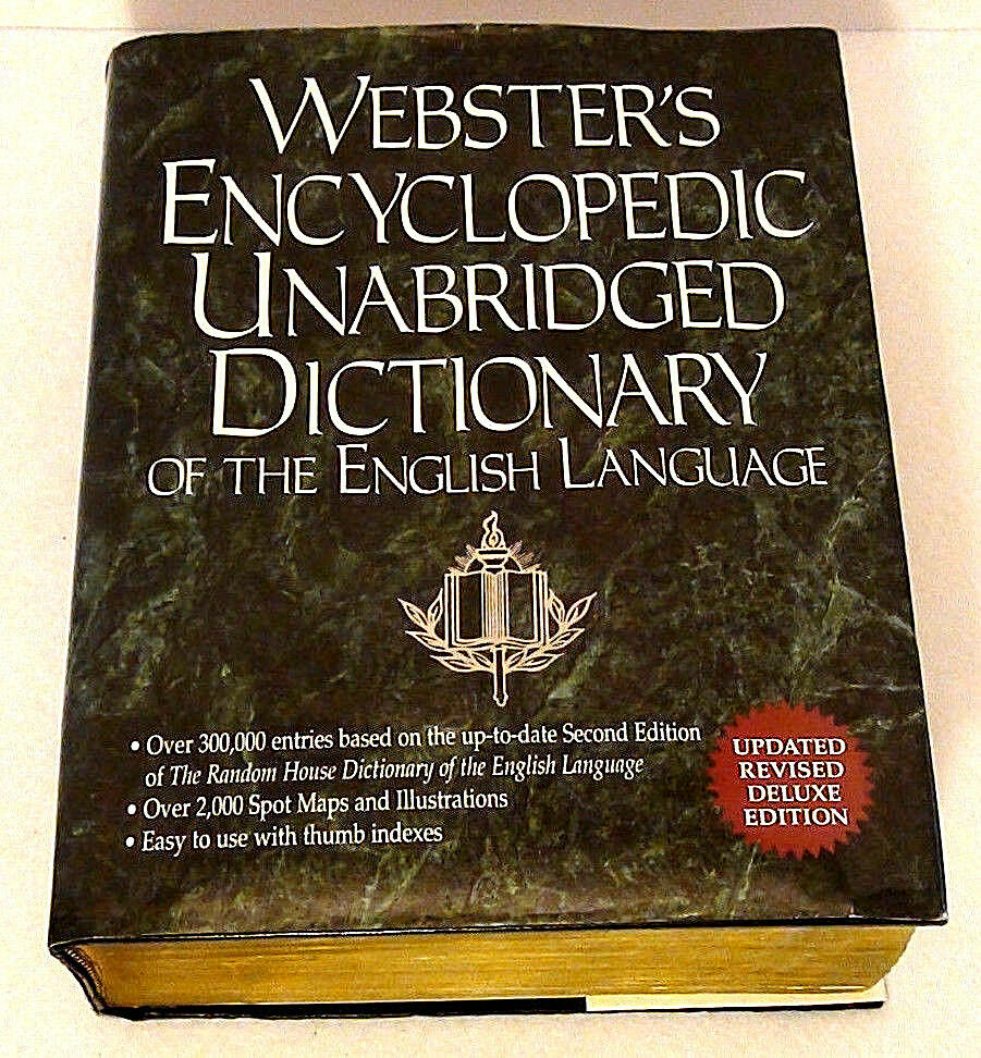 Webster's Encyclopedic Unabridged Dictionary English 1996 HC w/DJ Thumb  Index 9780517150269 | eBay