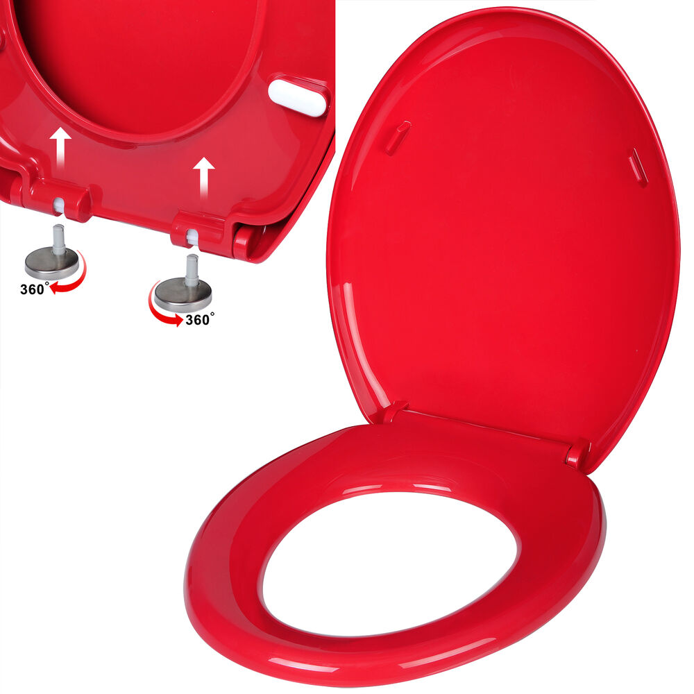toilettensitz wc sitz klodeckel toilettendeckel wc brille deckel rot ws2637 ebay. Black Bedroom Furniture Sets. Home Design Ideas