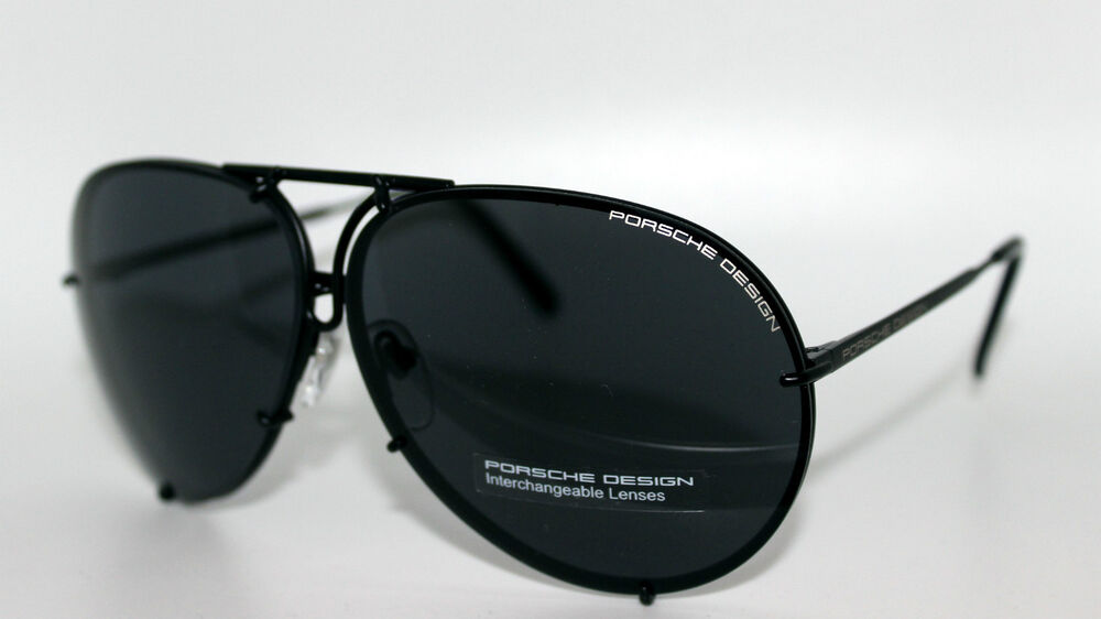 New Genuine Porsche Design Matt Black Titanium Aviator