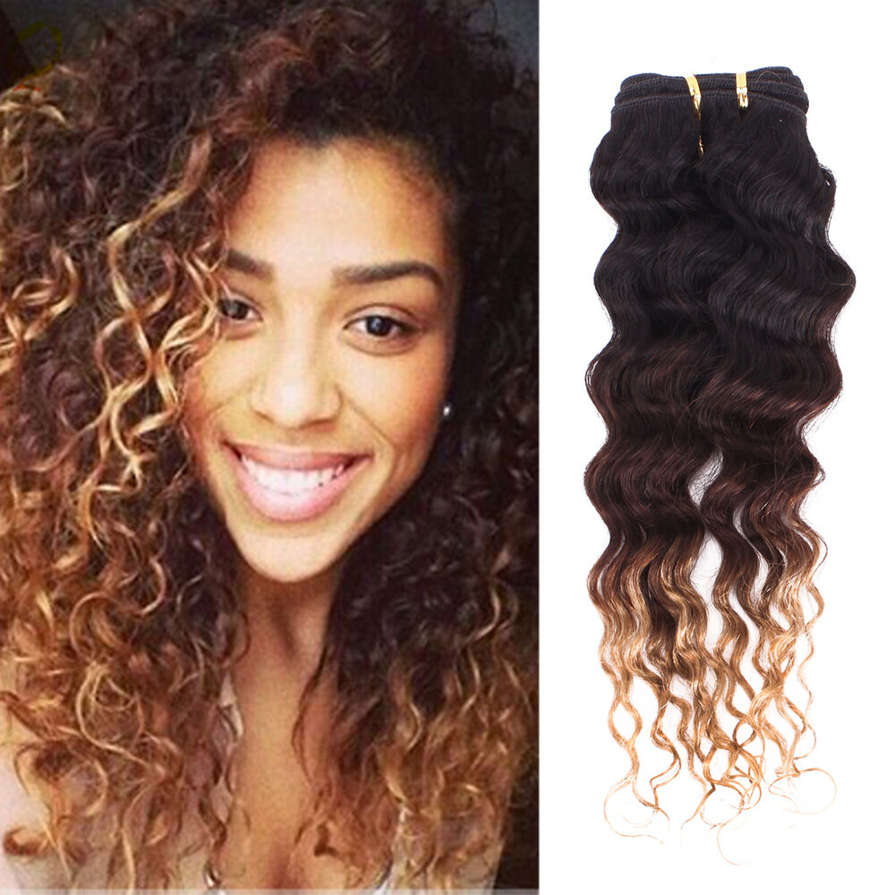Brazilian Ombre Kinky Curly Virgin Hair Unprocessed 100% ...
