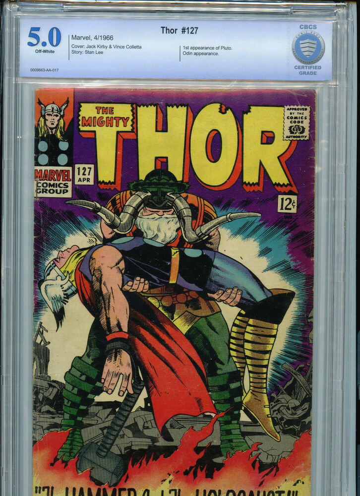 thor  127 silver age marvel comics cbcs 5 0 vg  fn 1966
