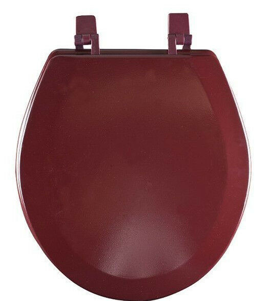 Hard Wood Standard Round Toilet Seat Burgundy