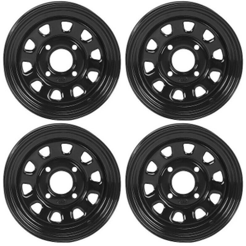 Atv Rims Wheel Covers : Atv utv wheels set in itp delta steel black