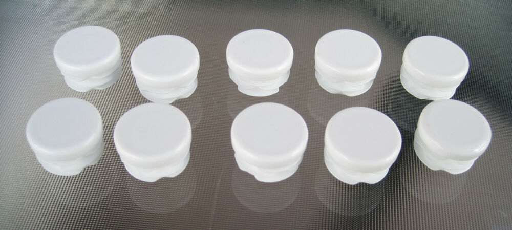 Quot white round tubing plastic hole plug inch end