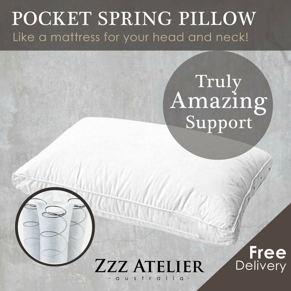Deluxe Mini Pocket Spring Pillow Really Good Support