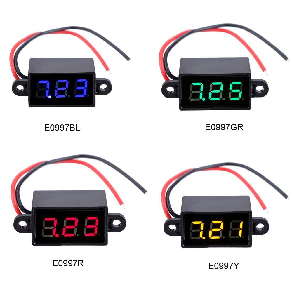 Dc Voltage Digital Panel Meters : Dc v digital led voltmeter water proof panel volt