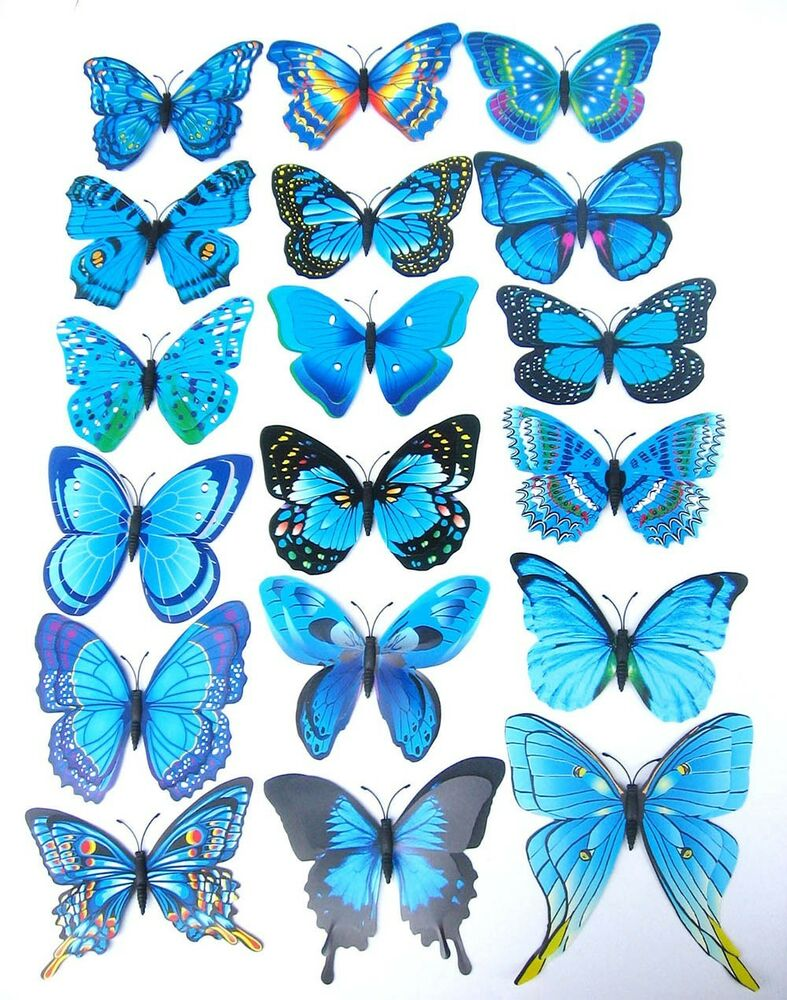 12pcs magnetic diy 3d butterfly wall sticker home decor for Diy 3d art