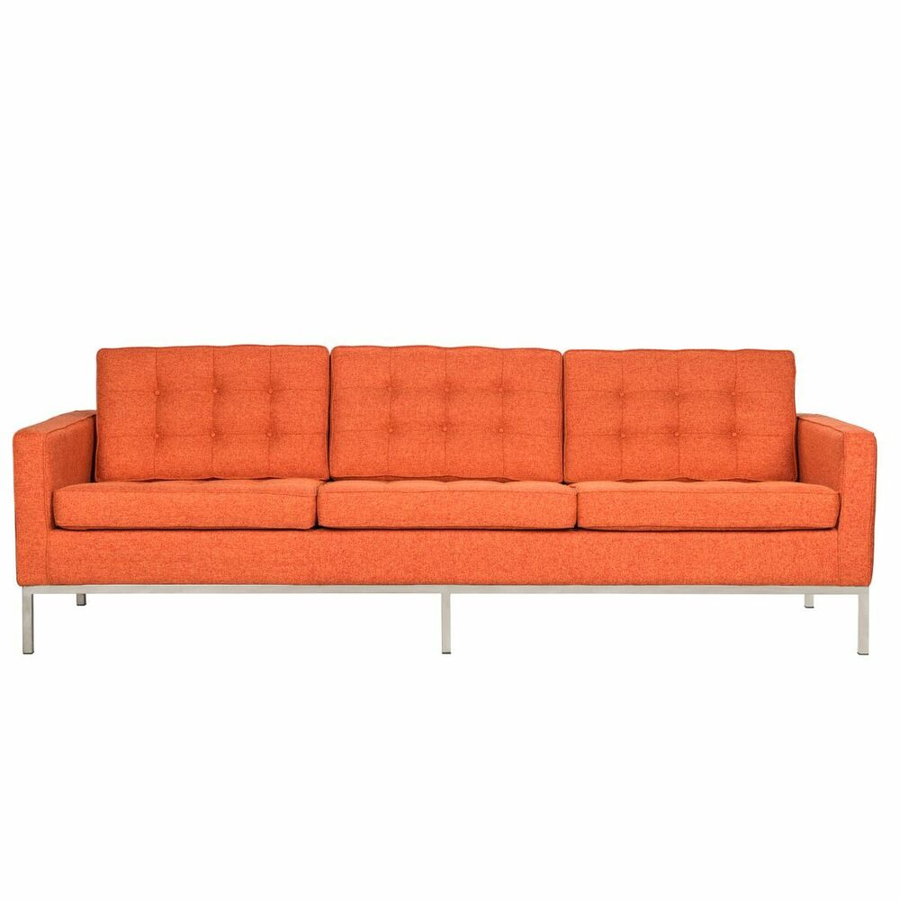 leisuremod florence mid century tufted sofa couch in. Black Bedroom Furniture Sets. Home Design Ideas
