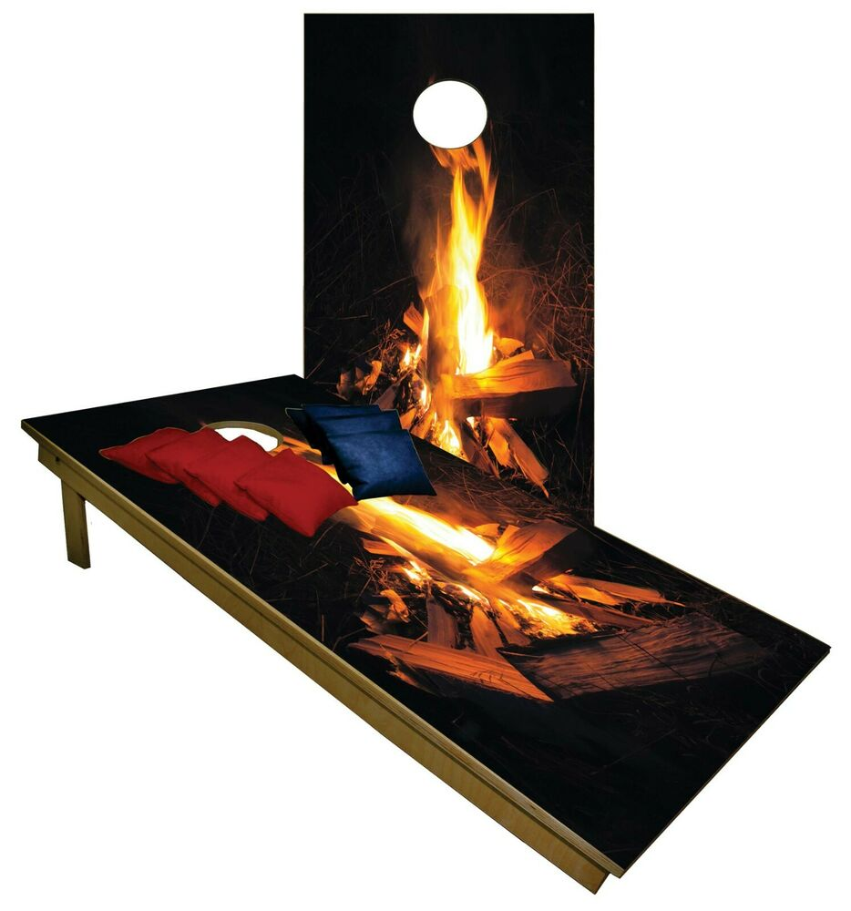 Cornhole Beanbag Toss Game W Bags Game Boards Bonfire