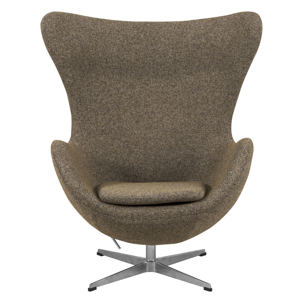 arne jacobsen style egg chair in oatmeal wool ebay. Black Bedroom Furniture Sets. Home Design Ideas