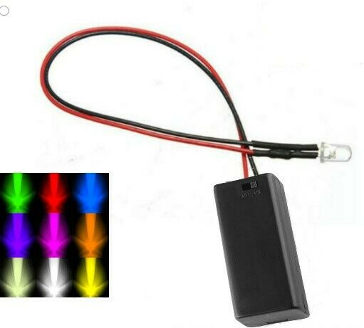 Garage Door Red Light Blinking On And Off: Flashing 3mm/5mm LED With Battery Box & Switch AA/AAA