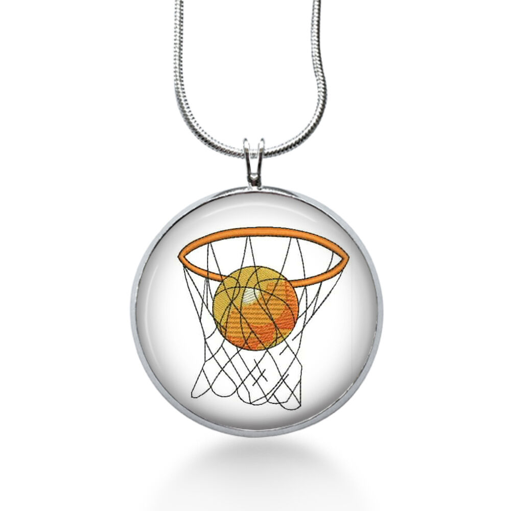 basketball hoop necklace sports pendant hoops gifts for