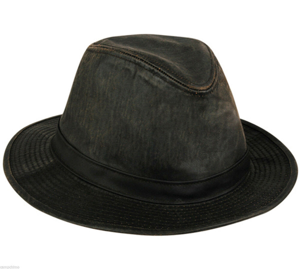 Details about CAP - SAFARI HAT BROWN WATER REPELLANT WEATHERED COTTON