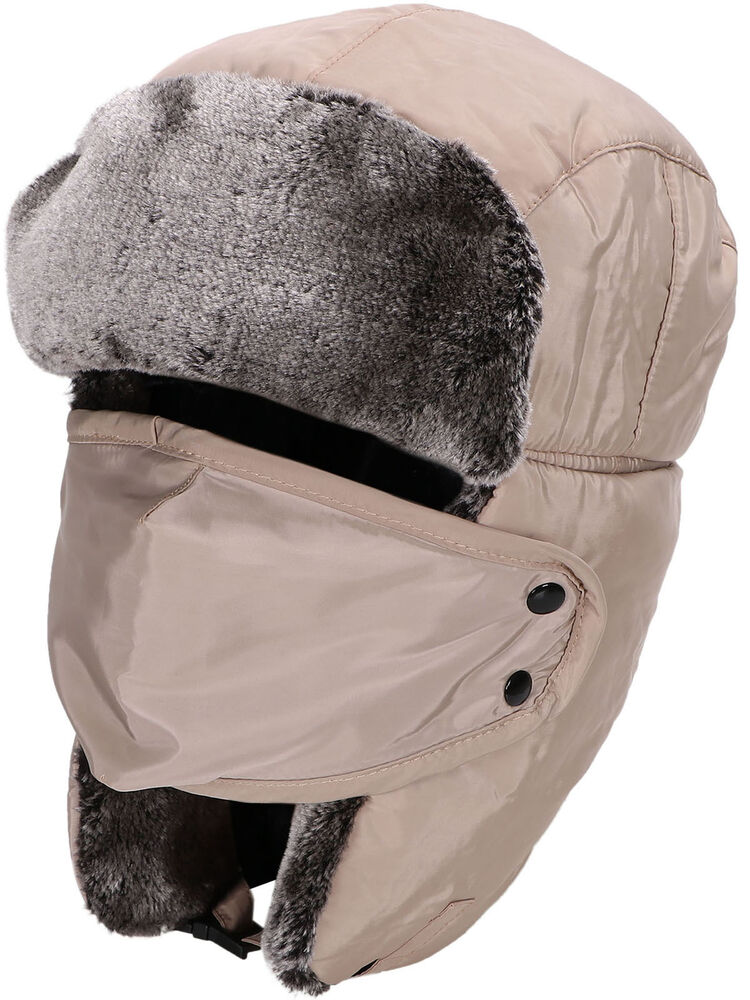 s winter faux fur lined bomber aviator hat