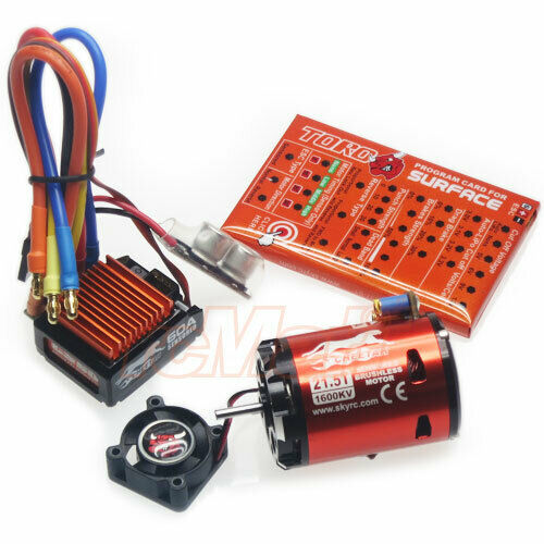 Skyrc cheetah 60a brushless esc system combo sensored 21 for 10 5 t brushless motor