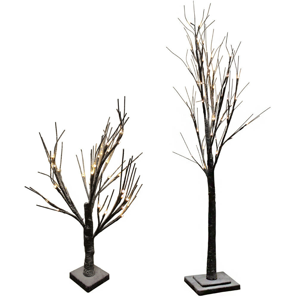 led lichterbaum beleuchteter baum 60 120 cm hoch weihnachtsdeko innen au en ebay. Black Bedroom Furniture Sets. Home Design Ideas