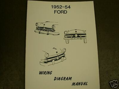 1952 1953 1954 ford wiring diagram manual ebay