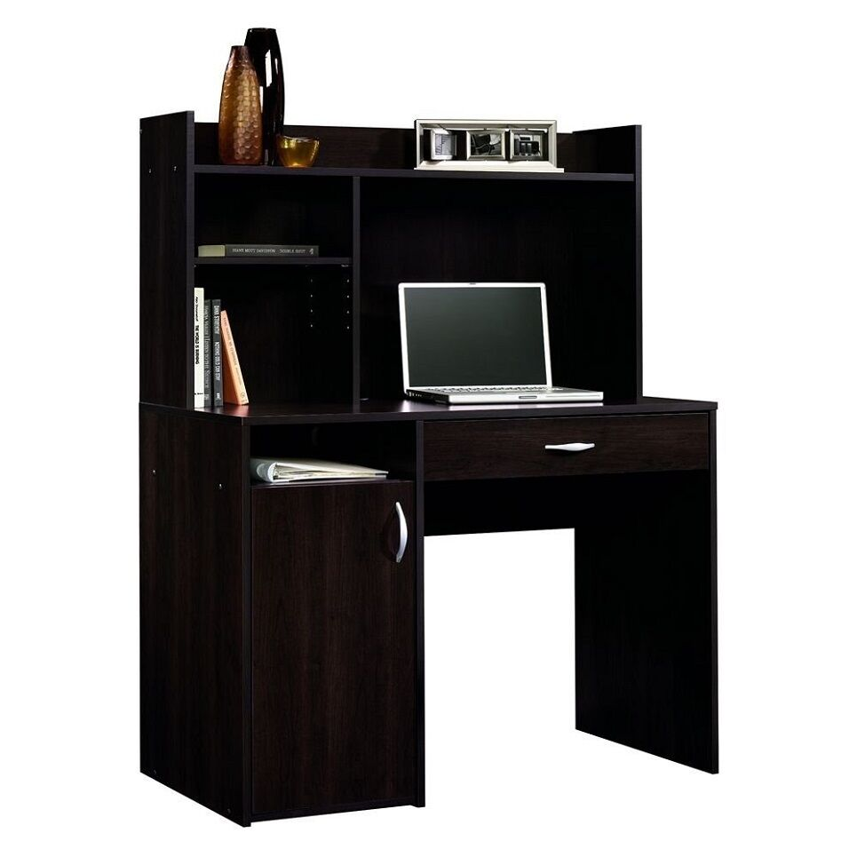 Computer Desk Pc Laptop Wood Table Home Office Study: Computer Desk W/ Hutch Wood Small Cherry Home Office Kids