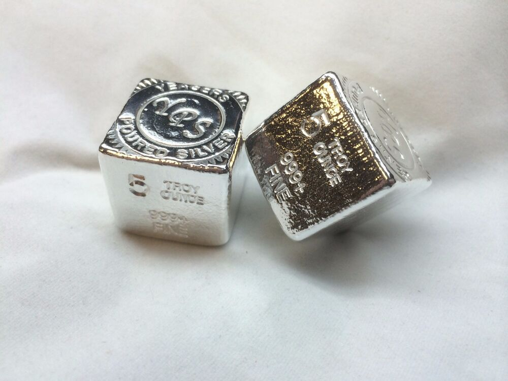 5oz Hand Poured 999 Silver Bullion Bar Quot Cube Quot By Yeagers Poured Silver Yps Ebay