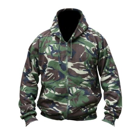 img-DPM Match Hoodie Full Zip Camo Fishing Fleece Military / Hunting Warm Jacket