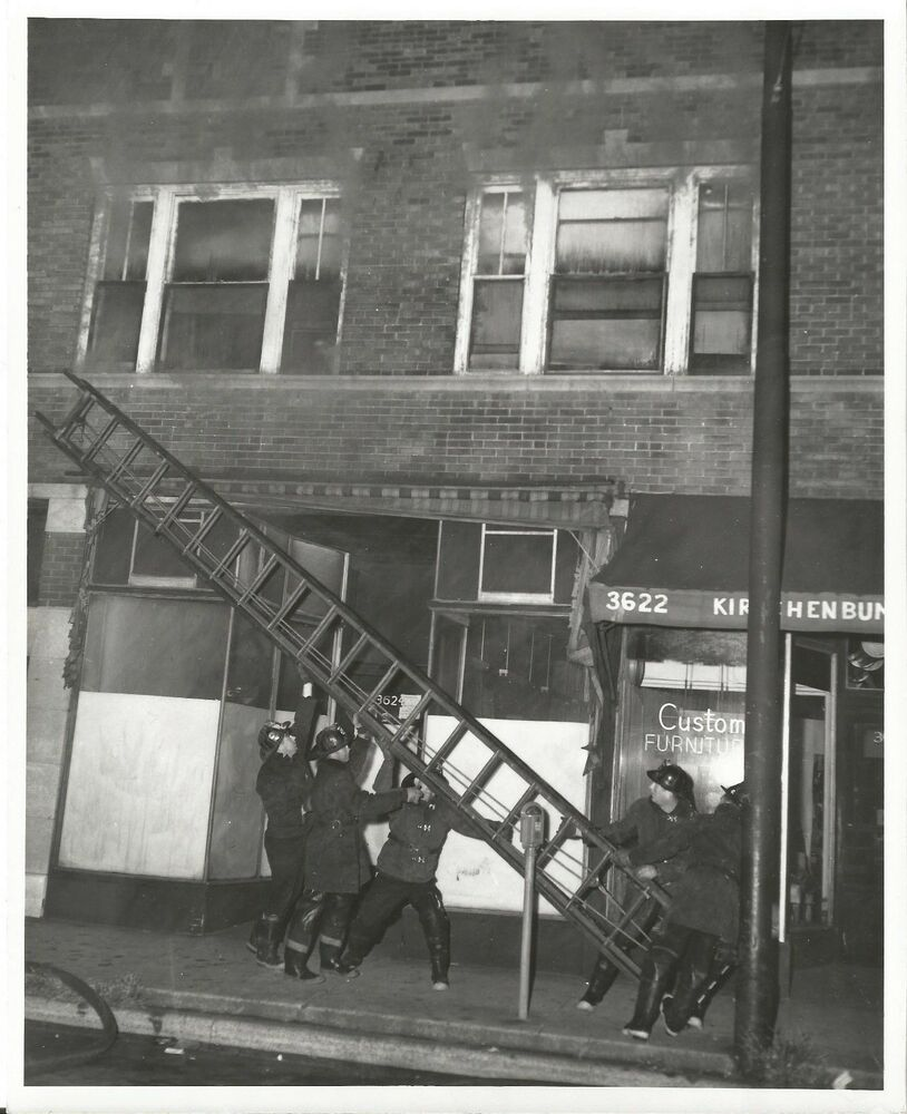 Vintage Photo Of Fire At Furniture Store In Chicago Fire