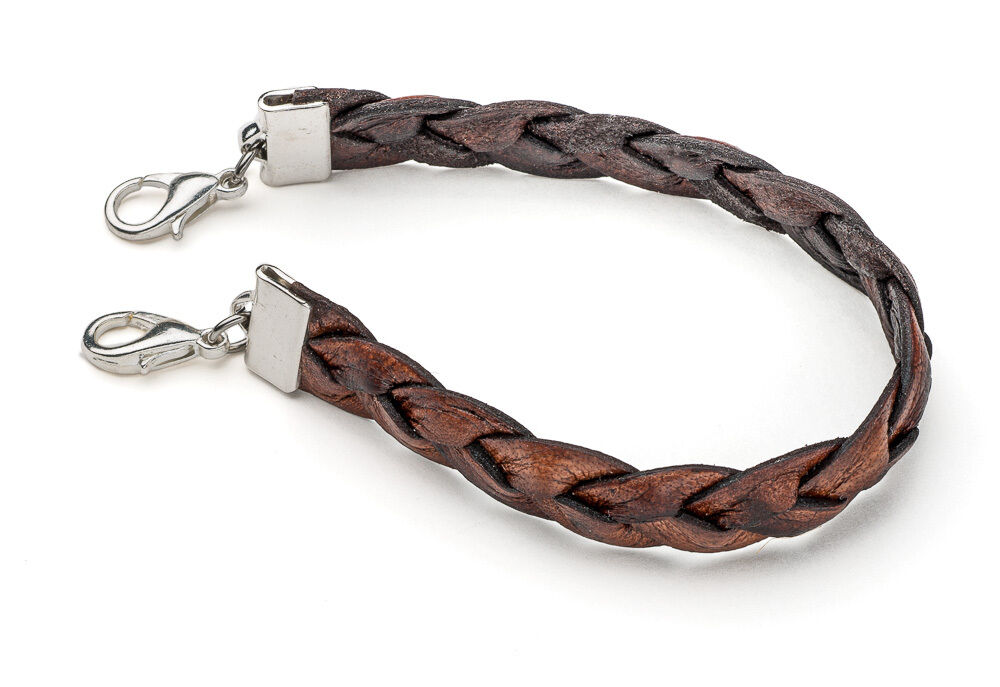 Medical Alert Bracelet >> Medical Alert ID Replacement Bracelet - Twisted Brown Leather - Nickel Free | eBay